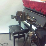ピアノを撮影