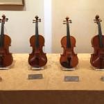 ARIの展示会でポルタンティさんのヴァイオリンを見つけました