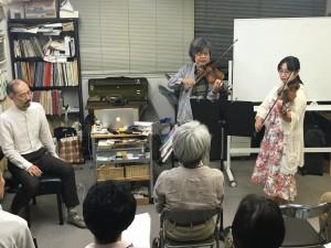 聴講生の上田さんを引っ張り込んで、バルトークのデュエットを