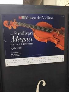 今回のヴァイオリン博物館「ストラディヴァリフェスティバル」の目玉は、300年ぶりにクレモナに戻った「メシア」