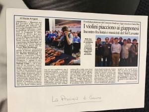 地元の「La Provincia」紙に掲載されました