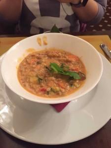 言ってみれば野菜のスープですが・・・風邪気味のゆきちゃんにはとてもよい料理でした